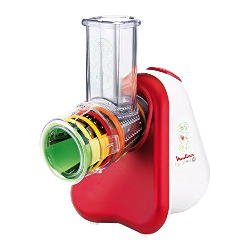Moulinex DJ756G Fresh Express Plus / Elektrisches Schnitzelwerk (Zerkleinerer) / 5 Trommelaufsätze / 200 Watt
