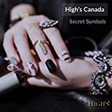 HIGH'S Exclusive Design Series Manicure Nail Polish Strips Nail Wraps, Secret Symbols