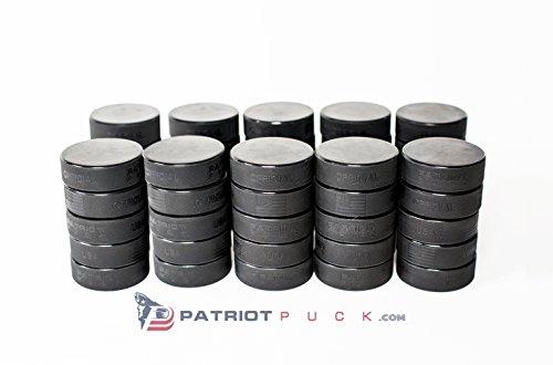 Official Ice Hockey Pucks Patriot Puck USA 6oz - Bulk 50