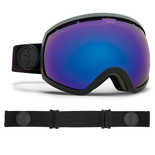Electric Visual EG2 Matte Black/Brose Blue Chrome Snow Goggle (Goggles Snow Eg2)