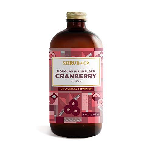 Shrub & Co Douglas Fir Infused Cranberry Shrub - Fruit-Driven Mixers for Cocktails, Sparklers, and Club Sodas, 16 fl. oz.