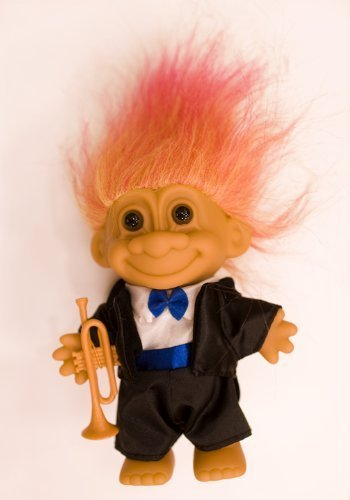 comprar nuevo barato My Lucky JAZZ MUSICIAN Troll Doll w Trumpet (Berry (Berry (Berry Sherbert Hair) by Russ Berrie Hair  mas preferencial
