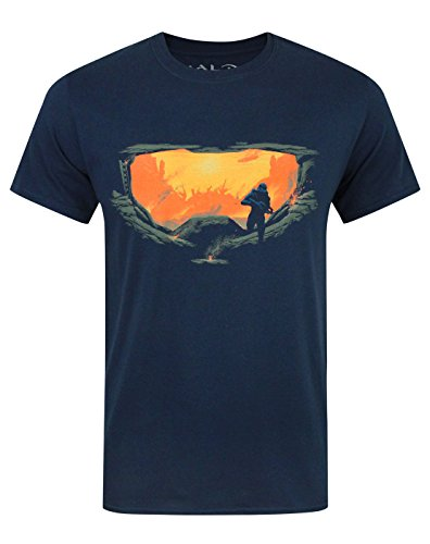 Official Halo 5 Master Chief Silhouette Boy's T-Shirt (12-13 Years) (Halo For Kids)