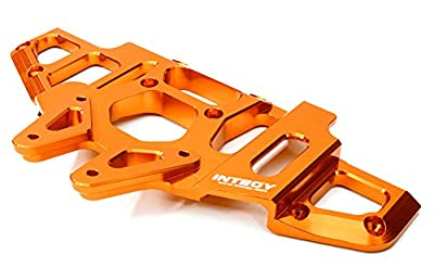 Integy RC Hobby C26868ORANGE Billet Machined Front Clip for Axial 1/8 Yeti XL Rock Racer Monster Buggy