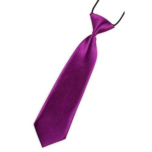 Vovotrade Baby Boys Handsome Necktie School Boys Kids Children Baby Wedding Solid Colour Tie Necktie (K)