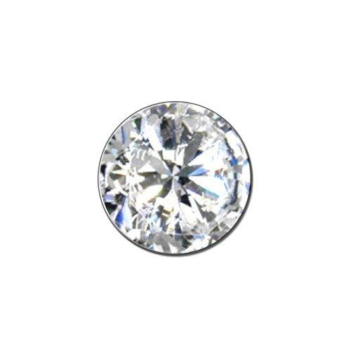 Diamond April Birthstone (Image Only) - Faux Resin - Metal Lapel Hat Pin Tie Tack Pinback