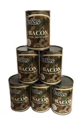 1/2 Case (6 Cans) Yoder's Premium Canned Bacon by Yoders