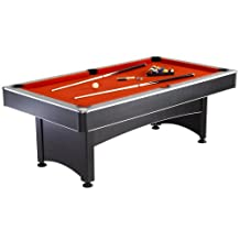 Hathaway Maverick Table Tennis and Pool Table (Black/Red/Blue, 7-Feet)