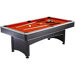 Hathaway Maverick Table Tennis and Pool Table, Black/Red/Blue, 7-Feet