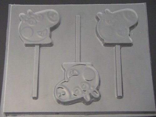 Pepper Pig Face Chocolate Candy Lollipop Mold