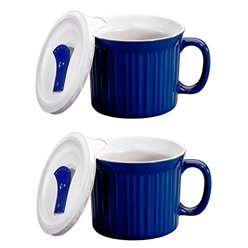 CorningWare Colours Pop-Ins 20-oz Mug w/ Vented Lid - 2 Pack