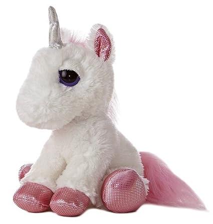 Amazon Com Aurora World Heavenly White Unicorn Plush Toy Toys Games