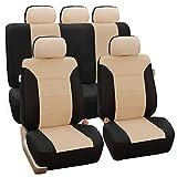 FH Group FB065115BEIGE - Classic Khaki Seat Covers - Full Set