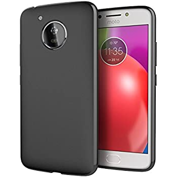 official photos 1614e 3d62b Moto E4 Case, Cimo [Matte] Premium Slim Protective Cover for Motorola Moto  E4 (USA) - Black