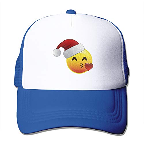 Funny Emoticon Kissy Santa Face Shirt Trucker Hat
