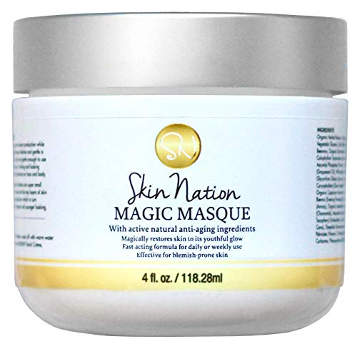 Magic Masque Face Mask | Hydrating Facial Mask, Pore Minimizer, Pore Cleansing, Skin Tightening, Anti Aging and Healing | Concentrated 2 oz. Aloe Vera Based | Skin Nation by Michelle Stafford ()