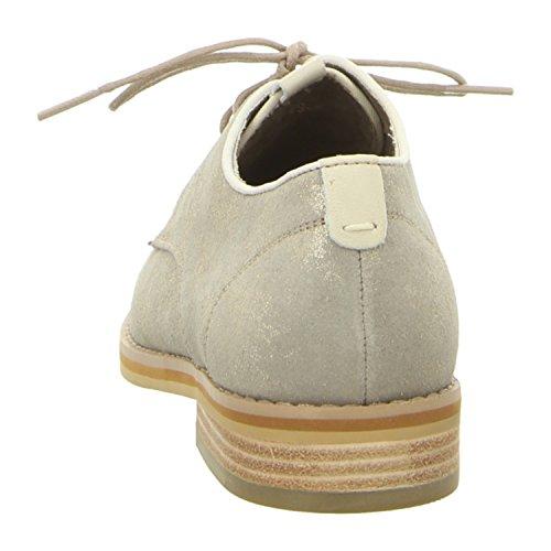 beige Mujeres ghiaccio Zapatos planos 104 GIOVANNA ghiaccio pewter pewter qaCpawZx