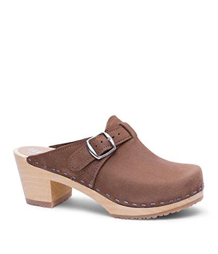 Product image of Sandgrens Swedish High Heel Wooden Clog Mules for Women | Nashville