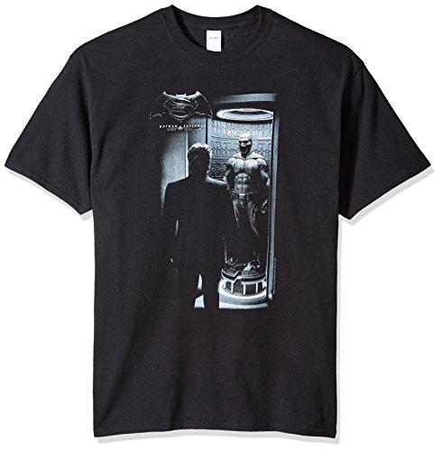 Trevco Men's Batman v Superman Short Sleeve Tall T-Shirt, Suit Black, XX-Large -
