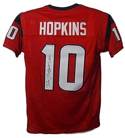 054a69ce Amazon.com: Deandre Hopkins Autographed/Signed Houston Texans Red XL ...