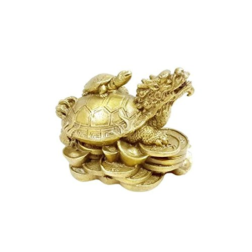 Indian Handicrafts Export Fengshui Dragon with Tortoise/Turtle for wealth