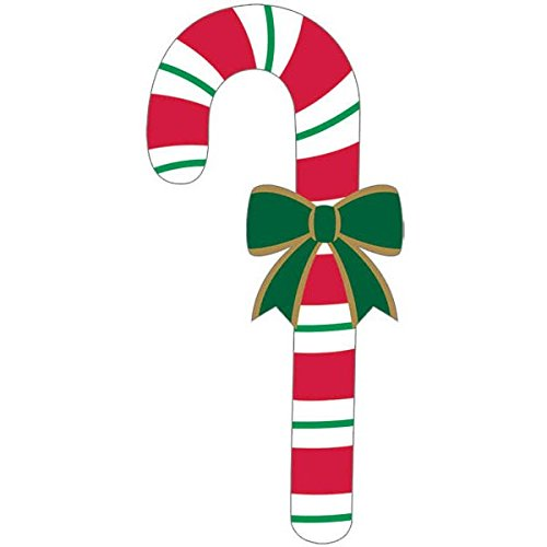 christmas candy cane printed paper cutout decoration 27