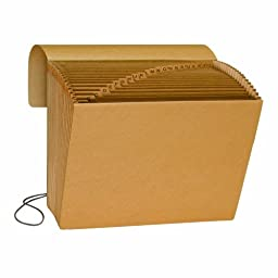 Smead Expanding File, Alphabetic (A-Z), 21 Pockets, Flap and Cord Closure, Letter Size, Kraft (70121)