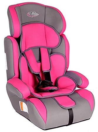 TecTake Car Seat Group 1 2 3 1-12 years 9-36 kg pink-grey: Amazon.co