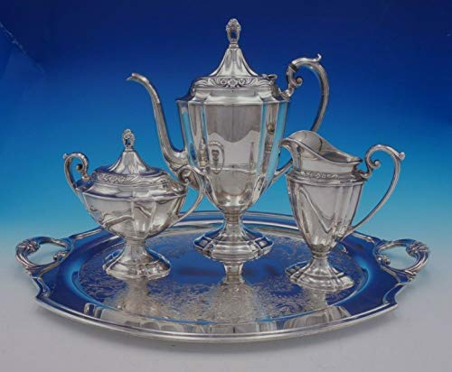 Eternally Yours by 1847 Rogers Silverplate Coffee Set 3pc with Tray (#3372) ()