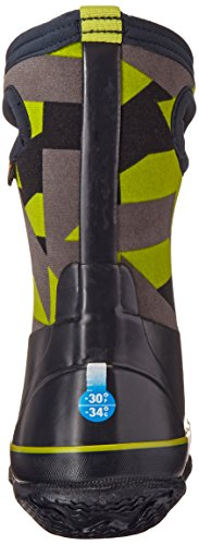 Bogs Classic High Waterproof Insulated Rubber Neoprene Rain Boot Snow, Geo Print/Dark Blue/Multi, 12 M US Little Kid by Bogs (Image #2)