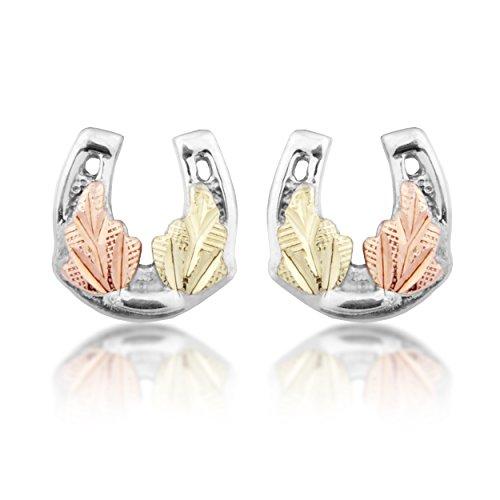 - Black Hills Gold on Silver Horseshoe Earrings