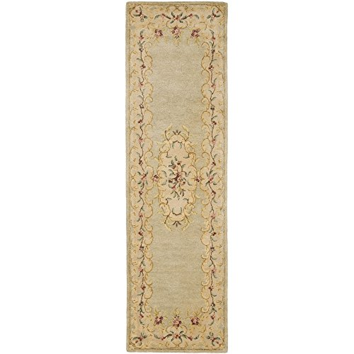 Safavieh Bergama Collection BRG166B Handmade Light Green and Beige Premium Wool Runner (2'3