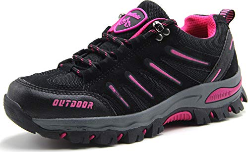 BomKinta Women's Hiking Shoes Anti-Slip Lightweight Breathable Quick-Dry Trekking Shoes for Women Black Size 8