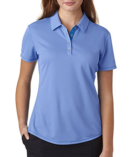 adidas Golf Womens Climacool Mesh Color Hit Polo (A222) -LKY Blue/B -2XL