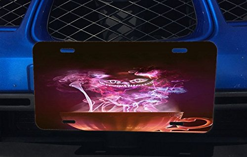 Trendy Accessories Cheshire Cat Smile From Magic Pot Design Pattern Print Aluminum License Plate for Car Truck - Plate Cheshire License Cat