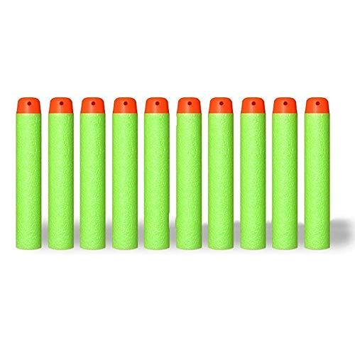 (Coomoors 200 Pcs 7.2cm Foam Darts for Nerf N-Strike Elite Series Blasters Zombie Toy Gun Strike Rebelle - Green)