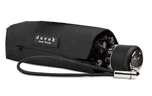 DAVEK MINI COMPACT UMBRELLA (Classic Black) - Quality Windproof Travel Umbrella, Strong & Portable