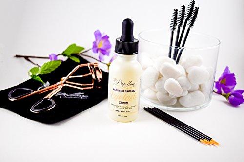 a5a3880968b Papillon Organic Eyelash Growth Serum with Castor, Coconut & Avocado Oils +  Vitamin E