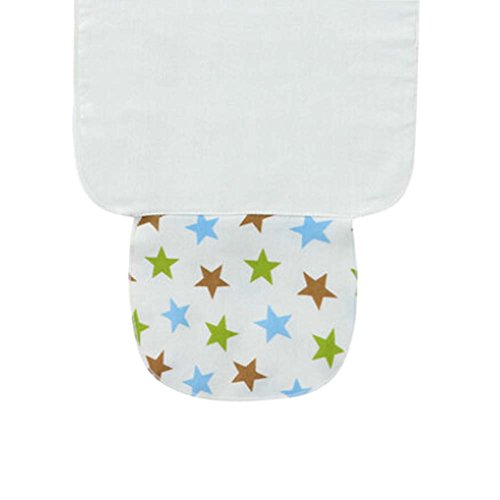 Set of 3 Multi-color Star Pattern Baby Towels Cotton Babies Towel, S