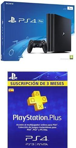 PlayStation 4 Pro (PS4) - Consola de 1 TB + PSN Plus Tarjeta 90 Días: Amazon.es: Videojuegos