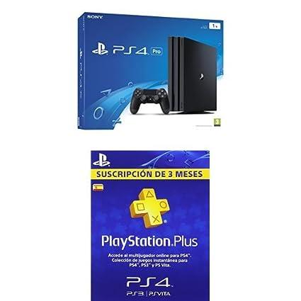 PlayStation 4 Pro (PS4) - Consola de 1 TB + PSN Plus Tarjeta ...