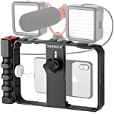 Neewer U Rig Smartphone Video Rig  Filmmaking Case  Phone Video Stabilizer Grip Tripod Mount for Videomaker Film-Maker Video-grapher for iPhone X Xs XS Max XR X HUAWEI Samsung  Single or Double Handed