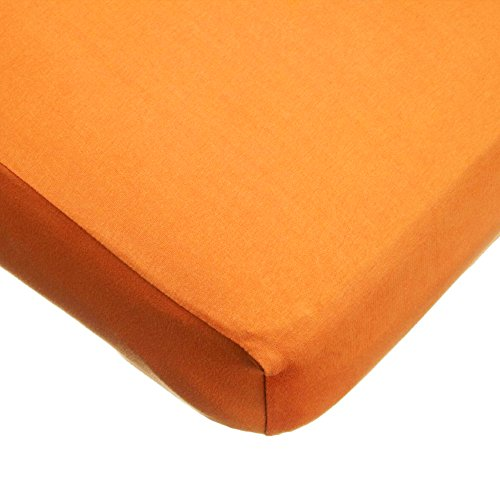 TL Care Supreme 100% Natural Cotton Jersey Knit Fitted Crib Sheet for Standard Crib and Toddler Mattresses, Orange, 28