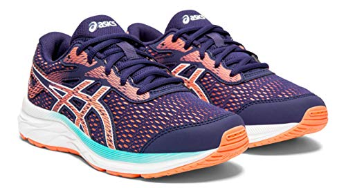 ASICS Kid's Gel-Excite 6 GS Running Shoes, 5.5, Purple Matte/Sun Coral ()