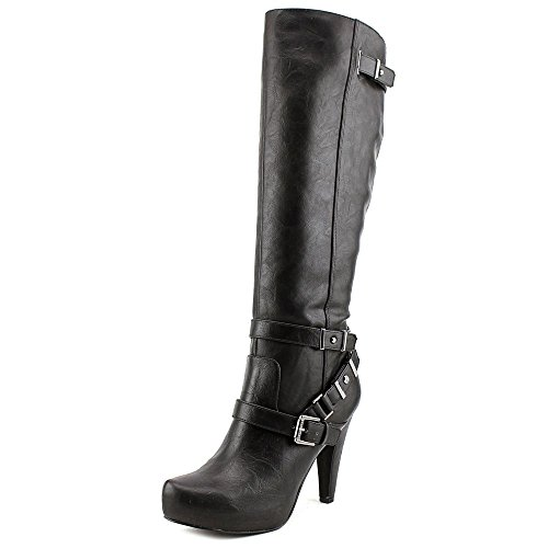 Guess Boots Women - GUESS Womens Theorry Closed Toe Knee High Fashion Boots, Black, Size 9.5