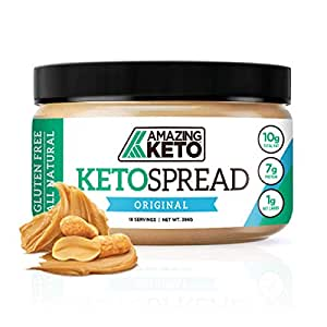 Amazing Keto Nut Butter Spread | Low Carb Keto Nut Butter Spread | Fat Bomb, Gluten Free & All Natural for Ketogenic Diet | 10G Fat, 7G Protein & 1G Net Carb | 18 Servings (Original)
