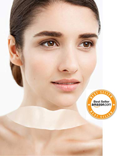 Decolletage Cream Lifting (Truvio Silicone Care Neck Pad - Set of 2 Silicone Neck Patch for Wrinkles Treatment and Prevention | Reuseable Neck Lift Tape for Collette Overnight Firming)