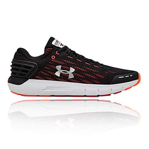 Under Armour Men's Charged Rogue Running Shoe, Black (002)/Orange Glitch, 13