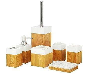 INtrenDU Kit WC Bambou Brosse WC Distributeur de savon Brosse WC ...