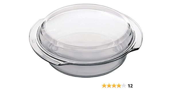Marinex 3 2 Quart Round Flat Casserole With Lid Baking Dishes Kitchen Dining